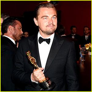 Leonardo DiCaprio Cracks Jokes While Getting His Oscar Engraved (Video)