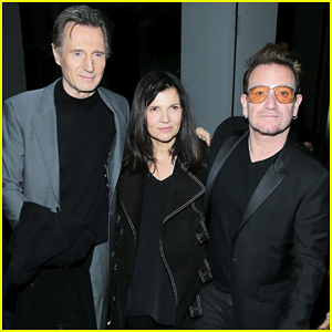 Liam Neeson Spends Valentine's Day At NYFW with Bono & Wife Ali Hewson!