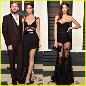 Lily Aldridge & Emily Ratajkowski Rock Sexy Looks at Vanity Fair Oscar Party 2016