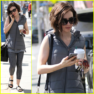 Lily Collins Gets In A Workout After Pre-Oscar Dinner