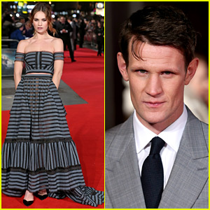 Lily James & Boyfriend Matt Smith Premiere 'Pride & Prejudice & Zombies' in London!