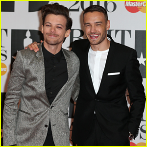 Louis Tomlinson & Liam Payne Laugh it Up on BRIT Awards 2016 Red Carpet