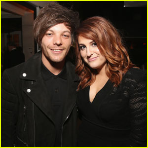 Louis Tomlinson Runs into Meghan Trainor at Sony Music's Grammys 2016 After-Party