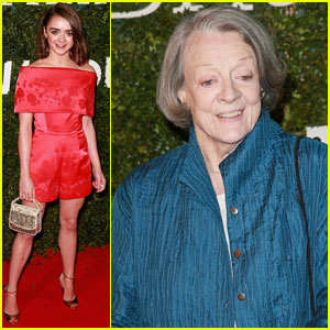 Maggie Smith Makes Rare Public Appearance at London Evening Standard British Film Awards 2016