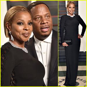 Mary J. Blige Brings Hubby Kendu Isaacs to Vanity Fair's Oscars 2016 Party