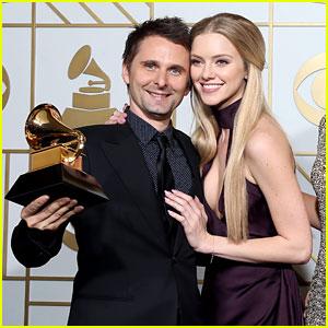 Matthew Bellamy & Elle Evans Celebrate Muse Win at Grammys 2016