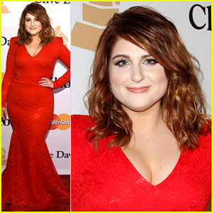 Meghan Trainor Debuts New Hair Color at Pre-Grammys Party!