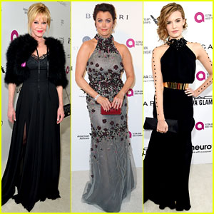 Melanie Griffith & Bellamy Young Glam Up for Elton John's Oscar Viewing Party 2016!