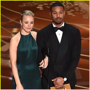 Michael B. Jordan Presents in Style at Oscars 2016