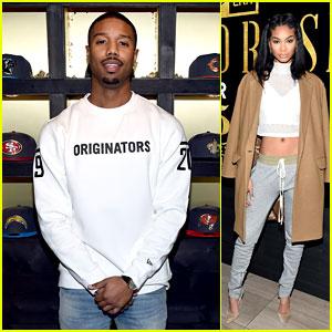 Michael B. Jordan & Chanel Iman Stop By New Era Style Lounge