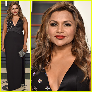 Mindy Kaling Switches Up Look for Vanity Fair Oscars 2016 After Party