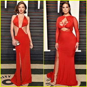 Miranda Kerr & Ashley Graham Are Red Hot Models at Vanity Fair Oscar Party 2016!
