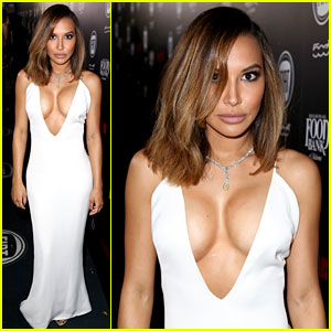 Naya Rivera Flaunts Major Cleavage at Vanity Fair's Young Hollywood Celebration!