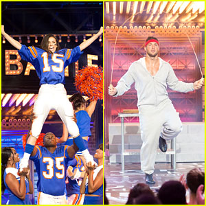 Nina Dobrev Is Tim Tebow's 'Cheerleader' on 'Lip Sync Battle' - Watch Now!