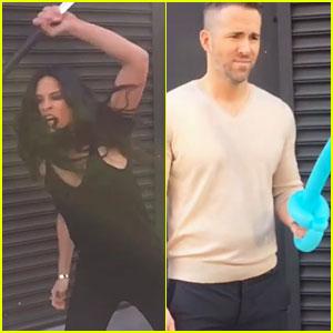Olivia Munn Shows Sword Skills in Funny Video with Ryan Reynolds - It's Psylocke vs. Deadpool!
