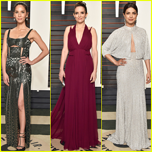 Olivia Munn & Tina Fey Bring Color To Vanity Fair's Oscar Party 2016!