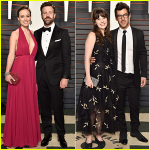 Olivia Wilde & Zooey Deschanel Bring Their Guys to Vanity Fair Oscars 2016 Party!