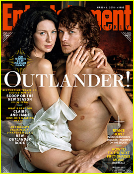 Outlander's Caitriona Balfe & Sam Heughan Strip Down for Steamy 'EW' Cover!