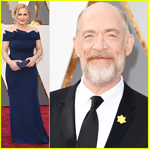 Patricia Arquette & JK Simmons Step Out To Present at Oscars 2016