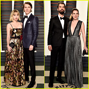 Paul Dano & Zoe Kazan Are a Stylish Couple at Vanity Fair Oscar Party 2016!