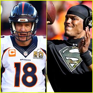 Peyton Manning & Cam Newton Prep for Super Bowl 2016 (Photos)