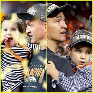 Peyton Mannings' Kids Join Him on Super Bowl 2016 Field!