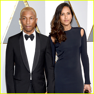 Pharell Williams & Helen Lasichanh Chat With Attendees in Oscars 2016 Audience