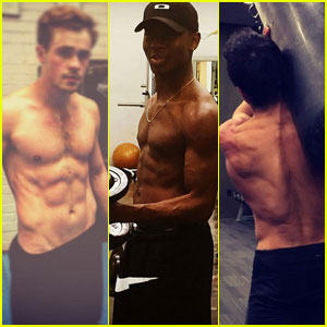 'Power Rangers' Actors Show Off Shirtless Buff Bodies Before Filming!