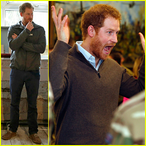 Prince Harry Meets With Soldiers Helping Out With Lancashire Flooding Crisis!