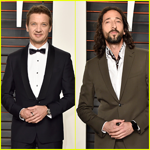 Jeremy Renner & Adrien Brody Suit Up For Vanity Fair Oscars Party 2016