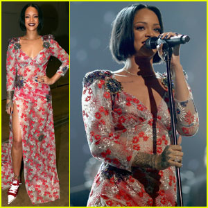 Rihanna Performs at MusiCares Event for Lionel Richie