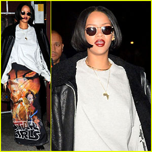 Rihanna Steps Out in Awesome 'Star Wars' Skirt!