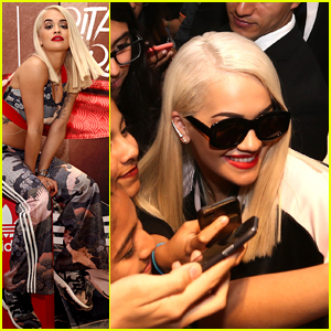 Rita Ora Gets Swarmed by Fans at Latest Adidas Collection Launch