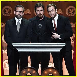 Ryan Gosling & Christian Bale Celebrate 'Big Short' Director at DGA Awards 2016