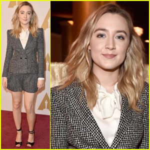 Saoirse Ronan Steps Out at Academy Awards 2016 Luncheon