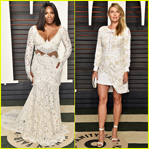 Serena Williams & Maria Sharapova Are Tennis Ladies In White At Vanity Fair Oscar Party 2016!