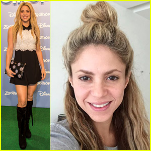 Shakira Celebrates 39th Birthday with Makeup Free Selfie!