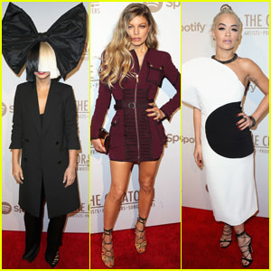 Sia & Fergie Hit the Red Carpet at Spotify's Creators Party