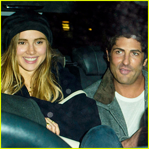 Suki Waterhouse & Brandon Davis Get Cozy After Night Out in London