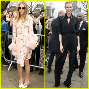 Suki Waterhouse & Karlie Kloss Step Out for Topshop in London