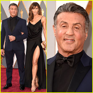Sylvester Stallone & Wife Jennifer Flavin Attend Oscars 2016!