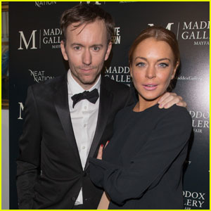 Lindsay Lohan Supports Tyler Shields at 'Decadence' Gallery