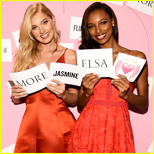 Victoria's Secret Angels Elsa Hosk & Jasmine Tookes Launch Valentine's Day Collection!