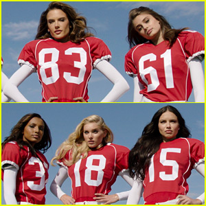 Victoria's Secret Angels Play Football Against the Devils - Watch Now!
