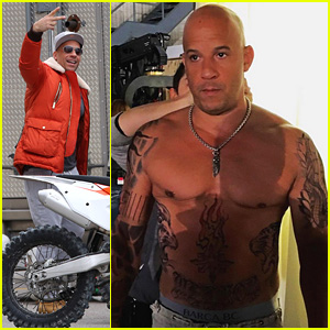 Vin Diesel Shows Off His Shirtless Body On 'xXx' Set!