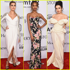 Hailey Baldwin & Jourdan Dunn Get Glammed Up for amfAR Gala 2016
