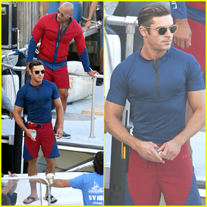 Zac Efron & Dwayne 'The Rock' Johnson Film 'Baywatch' - First On Set Photos!