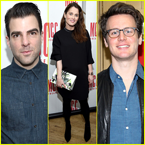 Zachary Quinto Gets Support From Ex Jonathan Groff At 'Smokefall' Opening Night!