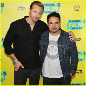 Alexander Skarsgard & Michael Pena Premiere 'War On Everyone' at SXSW Festival 2016
