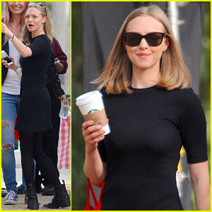Amanda Seyfried Chats Up 'The Last Word' Crew During Breaks